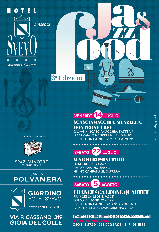 Locandina Svevo Jazz e Food 2017_14 luglio